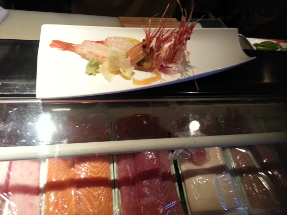 Bota Ebi Nigiri and fried shrimp head