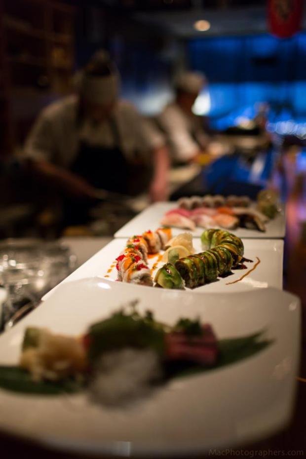 side shot bar - 3 sushi part two